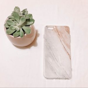 IPHONE 6s PLUS PINK MARBLE CASE